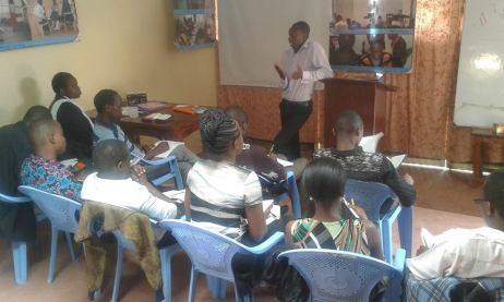 Sammy teaching on servant leadership
